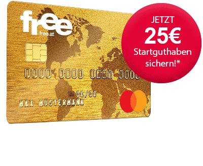 free Mastercard Gold Kreditkarte: Dauerhaft gebührenfrei